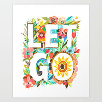 Let Go Art Print by Katie Daisy