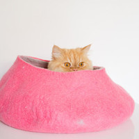 pets cave, pink fuchsia, cat bed, pink hot