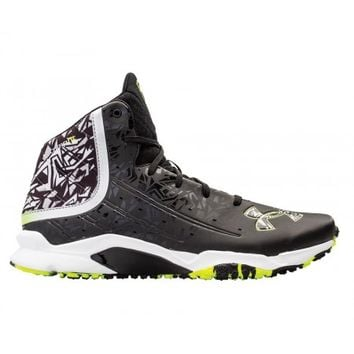 Under Armour Banshee Mid Turf - Black/White | Lacrosse Unlimited
