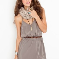 Racerback Wrap Dress - Silver in Clothes at Nasty Gal