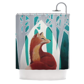 "Lydia Martin ""Fox Forest"" Shower Curtain"