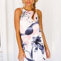 Julia Claire Shift Dress (White Floral) | Xenia Boutique | Women's fashion for Less - Fast Shipping