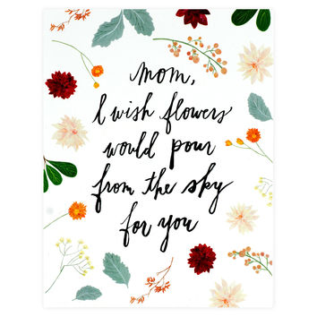 Flowers For Mom Card