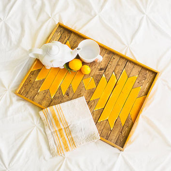 Sunflower Yellow Breakfast Tray