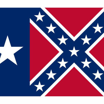 Texas Rebel Confederate Flag Vinyl Die Cut Decal Sticker