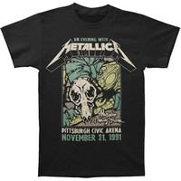 Metallica Men's  Pittsburgh Arena T-shirt Black