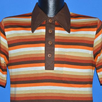 70s Montgomery Ward Striped Polo shirt Small