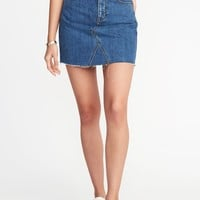 High-Rise A-Line Denim Mini Skirt for Women | Old Navy