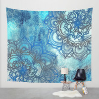 Lost in Blue - a daydream made visible Wall Tapestry by Micklyn