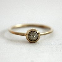 Etsy Transaction -        Reserved. Icy yellow rose cut diamond engagement ring. 18K.  Little yellow bird. Aya.