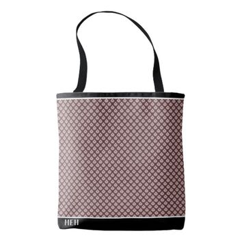 Brownscale Fish Scale Minor Monogram Tote Bag