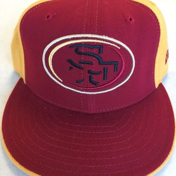 RETRO SAN FRANCISCO 49ERS RED NEW ERA FITTED HAT SHIPPING