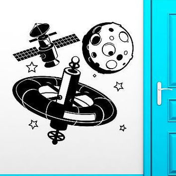 Wall Stickers Vinyl Decal Planet Universe Space Satellite Child Decor (ig1832)