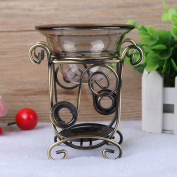 Iron Aromatherapy  Incense Burner  Aromatherapy Lamp Antique Essential Oil Heater