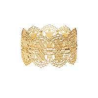 Floral Filigree Stretch Cuff Bracelet