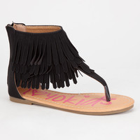 Yokids Nada Girls Sandals Black  In Sizes