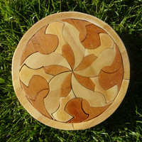 Geometric Wooden Circle Puzzle