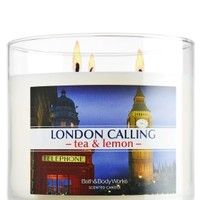 London Calling - Tea & Lemon 14.5 oz. 3-Wick Candle   - Slatkin & Co. - Bath & Body Works