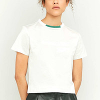 adidas Originals Equipment Embossed White T-Shirt - Urban Outfitters