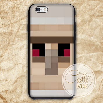 Minecraft Iron Golem Black White iPhone 4/4S, 5/5S, 5C Series Hard Plastic Case