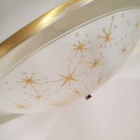 Mid Century Atomic Starburst Ceiling Fixture. vintage space age light fixture