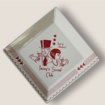 Jazzy's Social Club Coaster/ Cocktail Napkin Tray - 1920's Prohibition