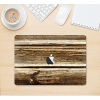 """The Dark Highlighted Old Wood Skin Kit for the 12"""" Apple MacBook"""