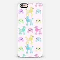 Pastel Poodles (light pink) iPhone 6s case by Lisa Argyropoulos   Casetify