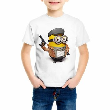 bebe322b Fashion minions Tops Kids Clothing Boys Girls Short Sleeve Despi