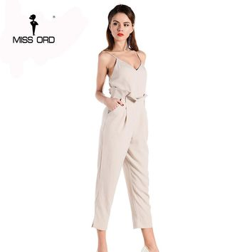 Sexy Sleeveless V Neck Spaghetti Strap Jumpsuit
