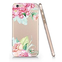 Vintage Flower Tropical Flower Slim Iphone 6 6s Case, Clear Iphone Hard Cover Case For Apple Iphone 6 6s Emerishop (NLA071.6sl)