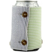 Seersucker Koozie in Blue, Green and Red by the Frat Collection