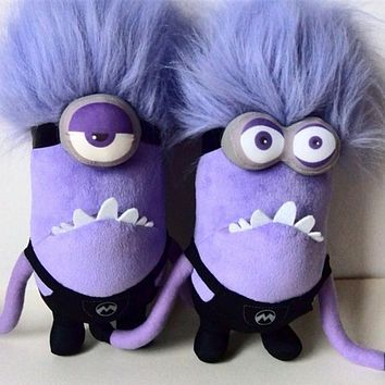 Kawaii Plush Doll 30cm Mini Minions Plush Toys 100% PP Cotton New Year presents Birthday Christmas Gift