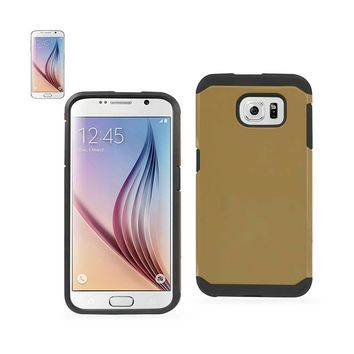 New Slim Armor Hybrid Tough Case In Gold For Samsung Galaxy S6 By Reiko