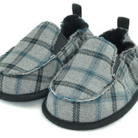 Cruiser Slip On Shoes Gray/Black Plaid