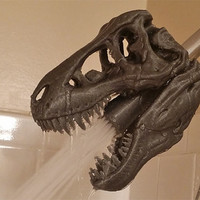 3D Printed T-REX Skull Shower Head Pre-Order
