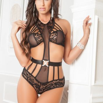 Strappy Teddy Lingerie Set