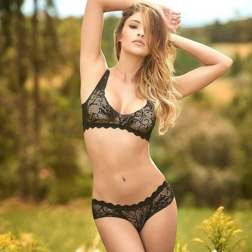 CREYON Lace Boy Short & Panty | Lingerie Set