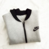 "Fashion Women ""NIKE"" Zip Cardigan Jacket Coat Grey"