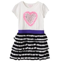 Design 365 Rhinestone Heart Dress - Girls