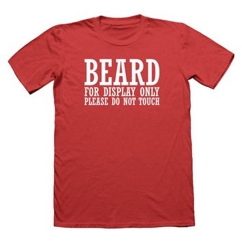 Beard for Display Only T-Shirt Funny T Shirt Mens Bearded Awesome Tee Hipster Dad Sleeve T Shirt Summer Men Tee Tops Clothing