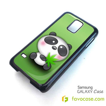 CUTE PANDA BEAR Samsung Galaxy S2 S3 S4 S5, Mini, Note, Tab Case Cover