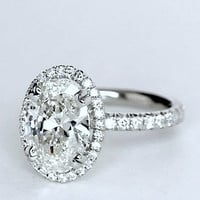 2.32ct I-VS2 Oval Diamond Engagement Ring GIA certified 18kt White Gold