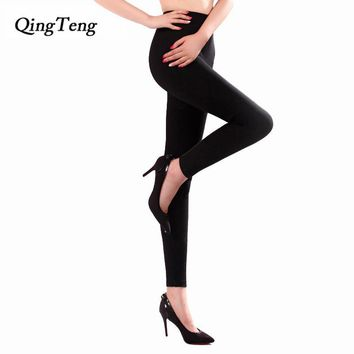 QingTeng Women Winter Leggings Warm Slim High Waist Jeggings Thermal Winter Women's Clothing Trousers Stretch Pants