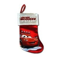"Disney Cars 7"" Lightning McQueen Mini Satin Christmas Stocking with Embroidery & Hangtag"