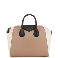 Givenchy Antigona Medium Colorblock Satchel Bag