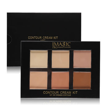 NEW Brand 6 Colors Facial Camouflage Concealer Palette Cream Contour Kit Makeup Cover &Corrector Highlighter Bronzer Light Deep