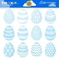 Easter Eggs Clipart. Easter Clip Art for Instant Download. Pale Blue Easter Egg Clip Art. Baby Blue Easter Egg Clipart. Spring Clipart
