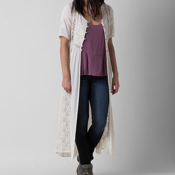 coco & jameson Lace Duster Cardigan
