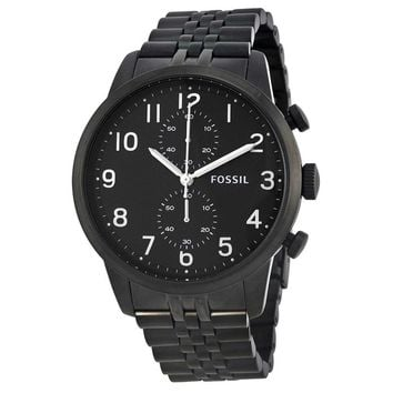 Fossil Men's Black Stainless Steel Townsman Chronograph Dial Watch